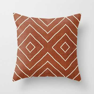"""Hook In Rust Couch Throw Pillow by Becky Bailey - Cover (20"""" x 20"""") with pillow insert - Indoor Pillow - Society6"""