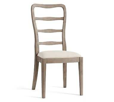 Ashford Side Dining Chair, Gray Wash Frame & Erin Linen Oatmeal Seat - Pottery Barn