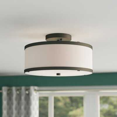 Breithaup 2-Light Semi Flush Mount - Wayfair