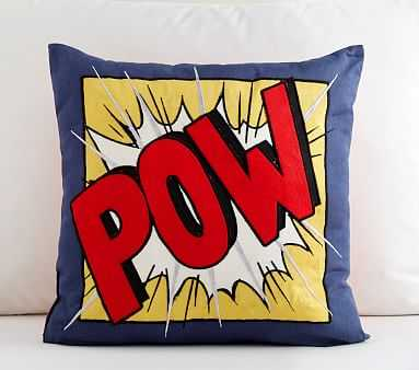 Pow Pillow, 16 Inch Square, Multi - Pottery Barn Kids