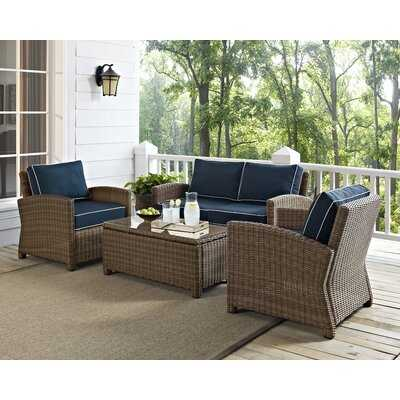 Dardel 4 Piece Sofa Seating Group with Cushions - Wayfair