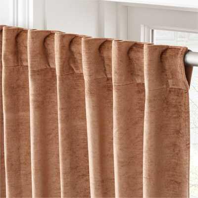 "Cotton Viscose Camel Curtain Panel 48""x108"" - CB2"