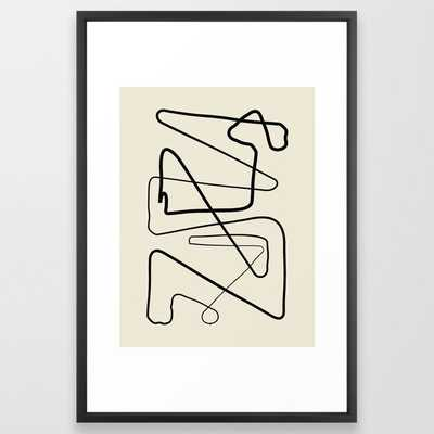 Movements Framed Art Print by Grace - Vector Black - LARGE (Gallery)-26x38 - Society6