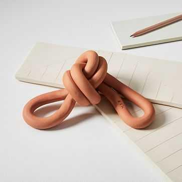 Virginia Sin Double Loop Knot, Terracotta - West Elm