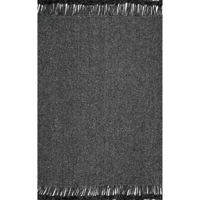 nuLOOM Courtney Braided Charcoal 6 ft. Indoor/Outdoor Square Rug, Grey - Home Depot