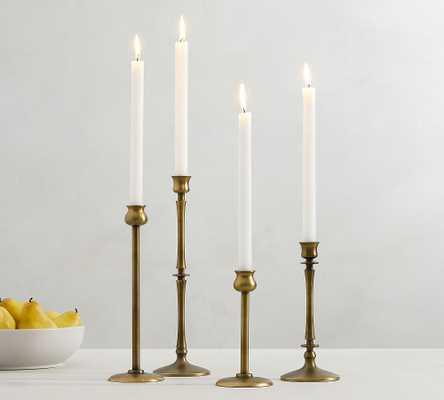 Booker Candlesticks, Brass, Set of 4 - Pottery Barn