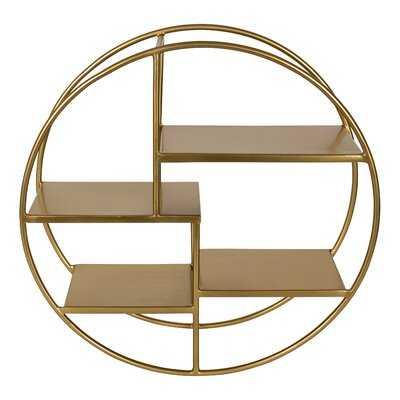 Austrinus 4 Piece Circle Metal Tiered Shelf - Wayfair
