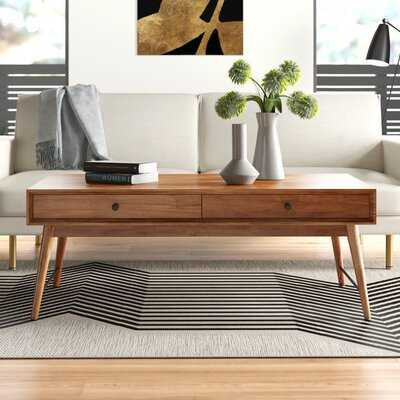 Mayer Solid Wood Coffee Table w/ Storage - AllModern