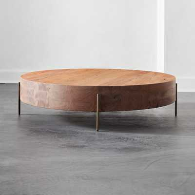 Proctor Low Round Wood Coffee Table - CB2