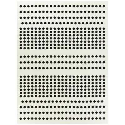 Donagene Polka Dots White/Black Area Rug - Wayfair