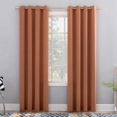 Cabral Basics Solid Color Room Darkening Grommet Single Curtain Panel - Birch Lane