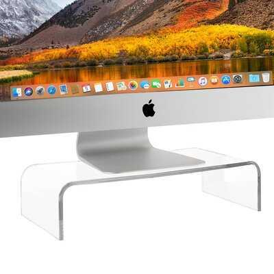 Honaz Acrylic Monitor Stand - Wayfair
