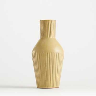 Mireya Pale Yellow Vase - Crate and Barrel