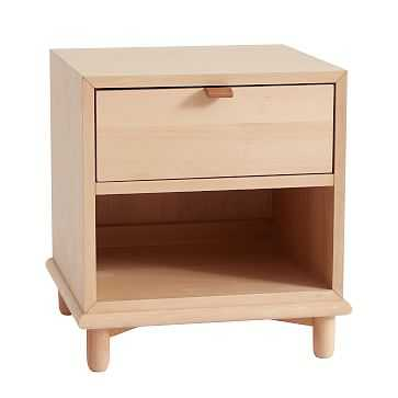 Nash Storage Nightstand, 1 Drawer, Natural - West Elm