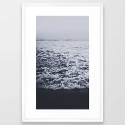 Out To Sea Framed Art Print by Leah Flores - Vector White - LARGE (Gallery)-26x38 - Society6