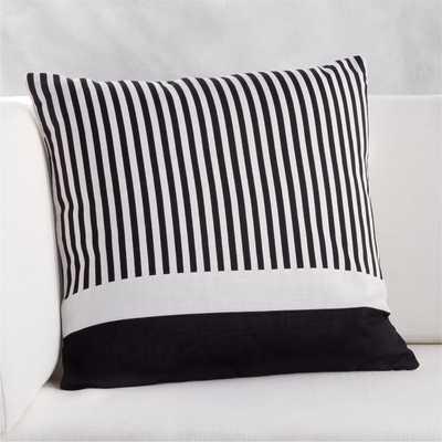 "20"" Rowan Stripe Pillow - CB2"