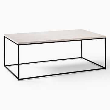 Streamline Coffee Table, Winter Wood, Antique Bronze - West Elm