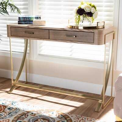 Coldiron Wood 2-Drawer Console Table - Wayfair