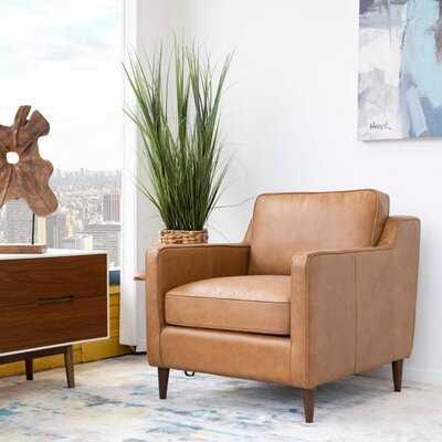 "Vannote 30"" W Top Grain Leather Armchair - Wayfair"