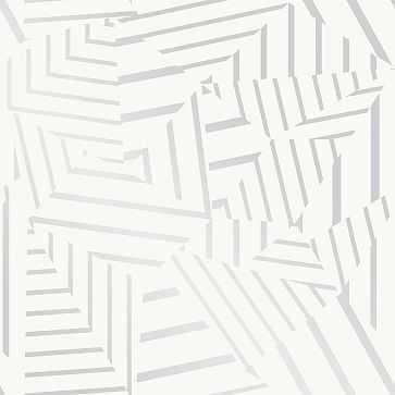 Bobby Berk Peel & Stick Dazzle, White & Metallic Silver - West Elm