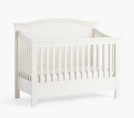 Larkin Camelback 4-in-1 Convertible Crib, Simply White, In-Home Delivery - Pottery Barn Kids