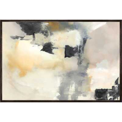 "Chelsea Art Studio 'Calm Dance' by Eve Fairwell - Floater Frame Painting Print on Canvas Size: 41.5"" H x 61.5"" W x 1.5"" D, Format: Image Gel Brush - Perigold"