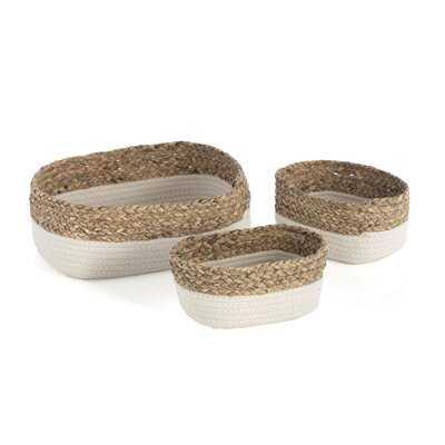 3 Piece Fabric Basket Set - Wayfair