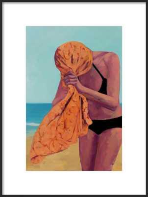 Tangerine Towel by T. S. Harris for Artfully Walls - Artfully Walls