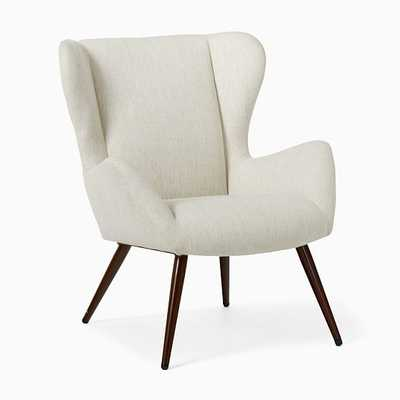 Otto Chair Poly Wheat Twill Faux Wood Walnut - West Elm