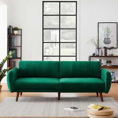 Velvet 85.4'' Flared Arm Sofa - Wayfair