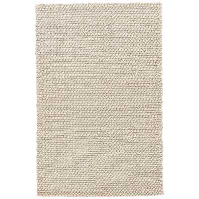 JAIPUR HDC Thursten Hand-Woven Gray/White 8 ft. x 10 ft. Solid Area Rug - Home Depot