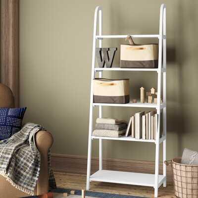 "Lidio 72.2"" H x 28"" W Solid Wood Ladder Bookcase - Wayfair"