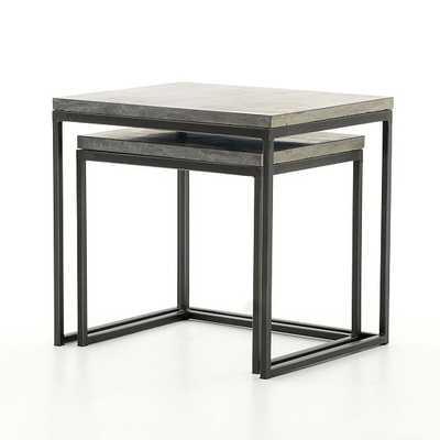 Limestone & Iron Nesting Tables - West Elm