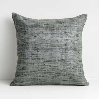 """Trevino 20"""" Dark Grey Pillow Cover - Crate and Barrel"""