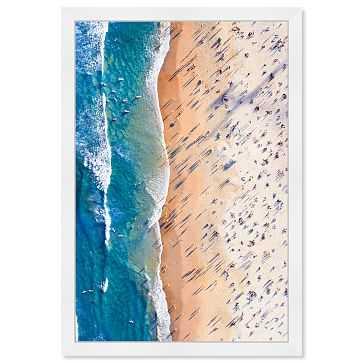Oliver Gal Playa Italiana Framed Art, Blue - West Elm
