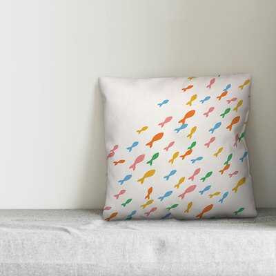 Colorful School of Fish Throw Pillow - Wayfair