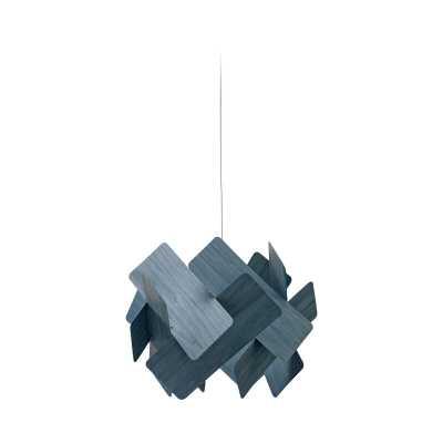 LZF Escape 1-Light Unique / Statement Geometric Pendant Shade Color: Blue, Bulb Type: GU24 - Perigold