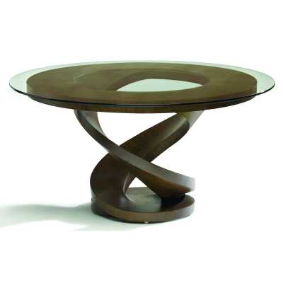 Oggetti Fleur Dining Table Color: Ebony - Perigold