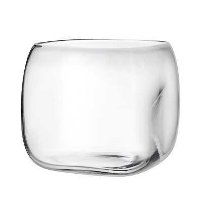 "Nude Mono Box Table Vase Color: Clear, Size: 7.75"" H x 8.46 ""W X 8.46"" D - Perigold"