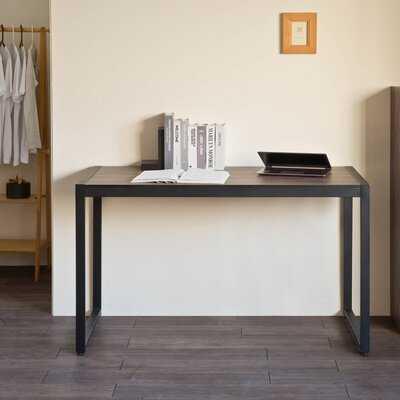 "Home Office Computer Desk, 50"" Large Office Desk Modern Simple Style Study Writing Table, Black Sand - Wayfair"