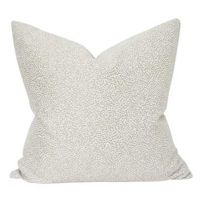 Beige Dot - 18x18 pillow cover - Arianna Belle