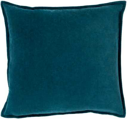 "Cotton Velvet - CV-004 - 22"" x 22"" - with poly insert - Neva Home"