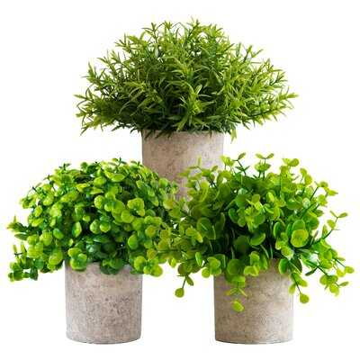3 - Piece Artificial Plant in Pot Set - Wayfair