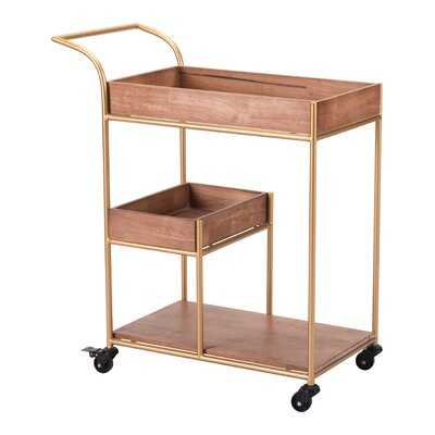 Noemi Bar Cart with Tray - AllModern