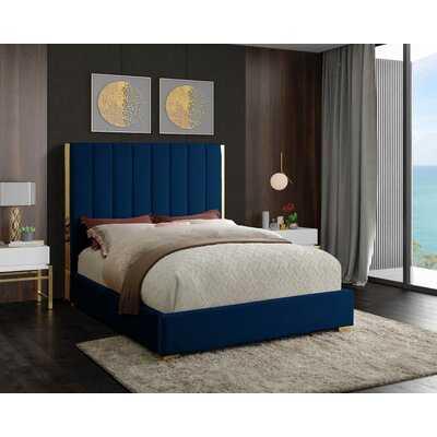 Aeliana Velvet Upholstered Platform Bed - Wayfair