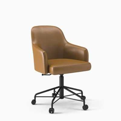 Springhill Suites Saddle Desk Chair - West Elm