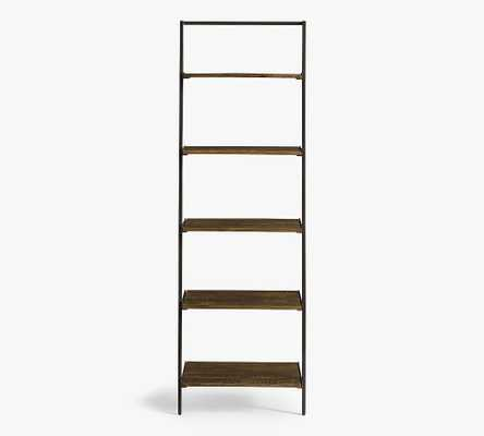 Sanford Ladder Shelf, Cobble Brown Wash - Pottery Barn