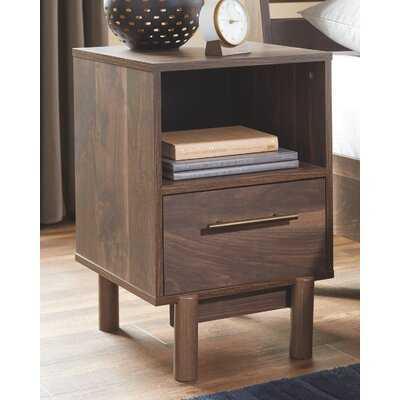 Gartner 1 - Drawer Nightstand in Brown - Wayfair