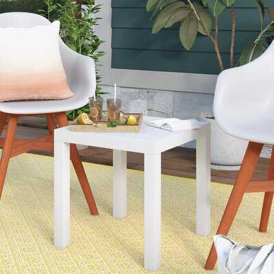 Melissus Plastic Side Table - Wayfair