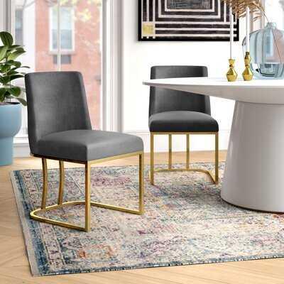 Noah Velvet Upholstered Side Chair - set of 2 - Wayfair